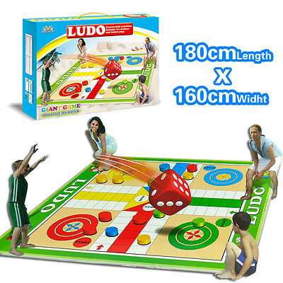 Ludo - Baby Kid Family Outdoor Board Game Toy Play Mat Activity Floor Picnic Rug