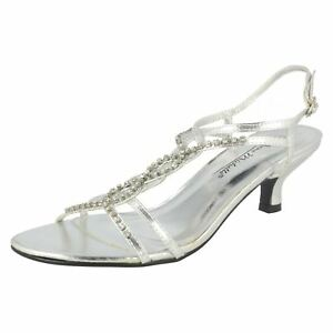 Anne-Michelle-L3R879-Ladies-Silver-Sparkly-Low-Sandals-R7A