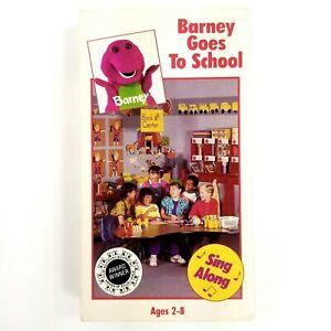 Barney And The Backyard Gang: Barney Goes To School (VHS ...
