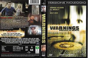 WARNINGS - PRESAGI DI MORTE (2003) dvd ex noleggio - Italia - WARNINGS - PRESAGI DI MORTE (2003) dvd ex noleggio - Italia