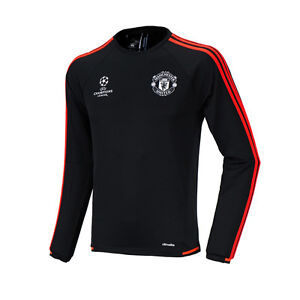 adidas 2015 2016 manchester united uefa champions league training top ac1513 ebay. Black Bedroom Furniture Sets. Home Design Ideas