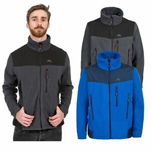 Trespass-fuego-rampante-Para-Hombre-Full-Zip-chaqueta-de-lana-en-azul-y-gris