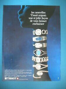 PUBLICITE-DE-PRESSE-TISSOT-MONTRES-ARGENT-MASSIF-COLLECTION-FEMME-GIRAFE-AD-1971
