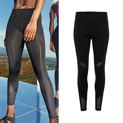 Gut Tridri Women's Mesh Tech Panel Full-length Leggings (tr034) - Gym Yoga Sports Hell In Farbe