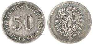 50 Pfennig Empire 1877 B VF / S-Ss 35096