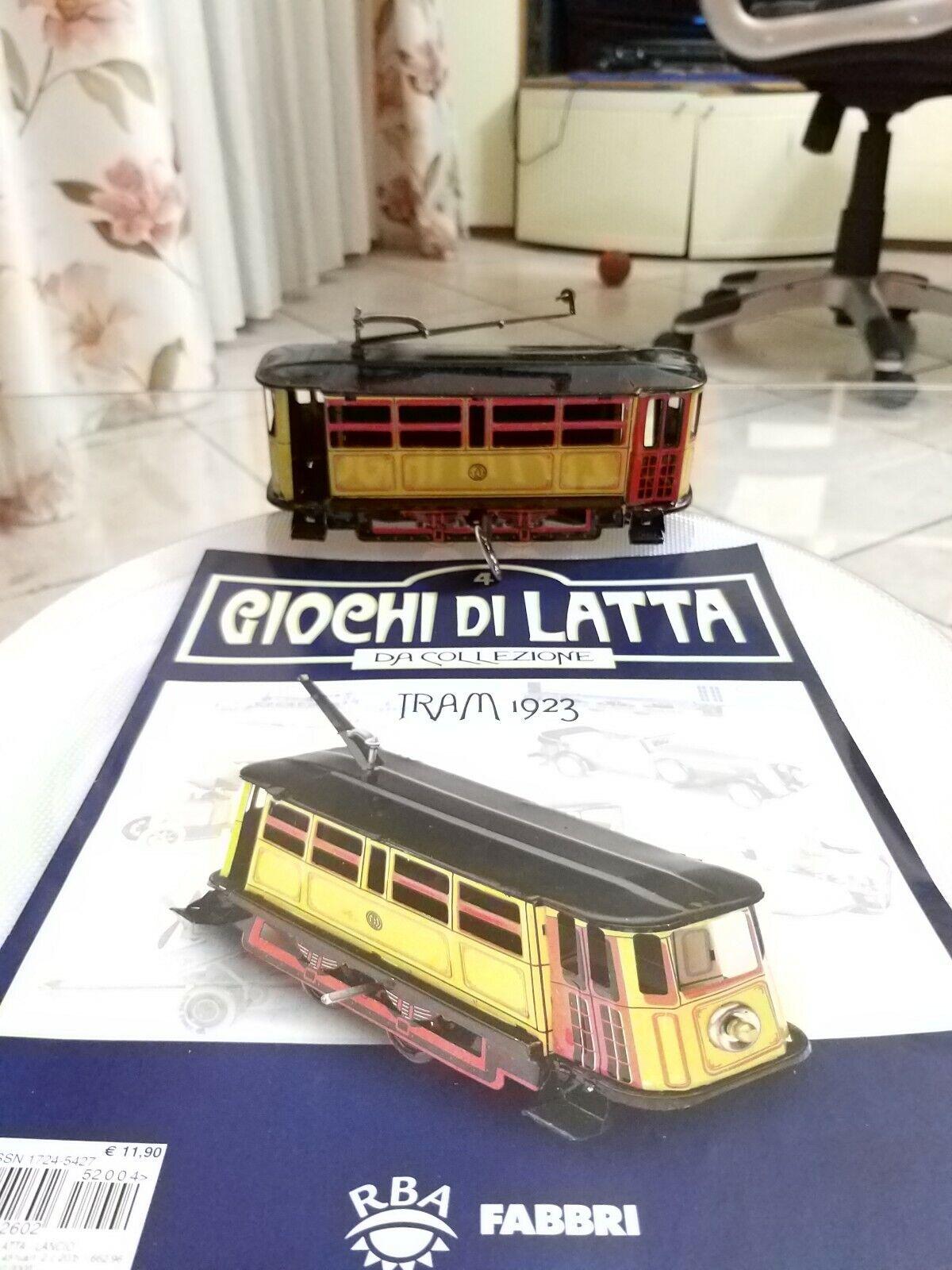 GIOCO IN LATTA TRAM 1923 Anni 60 Made in Japan da collezione+Rivista