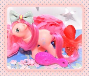 My-Little-Pony-MLP-G1-VTG-BABY-Peek-a-Boo-First-Tooth-Sweet-Stuff-Doll-Pink