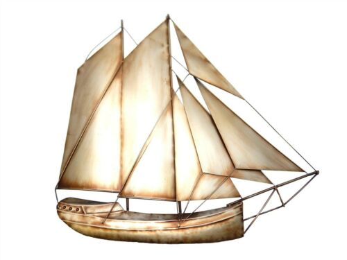 Rustic Sail Boat Yacht Contemporary Metal Wall Art Decor Picture
