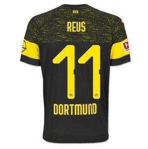 brand new ae1d6 4829e Details about Marco REUS BORUSSIA DORTMUND Black Away Soccer jersey