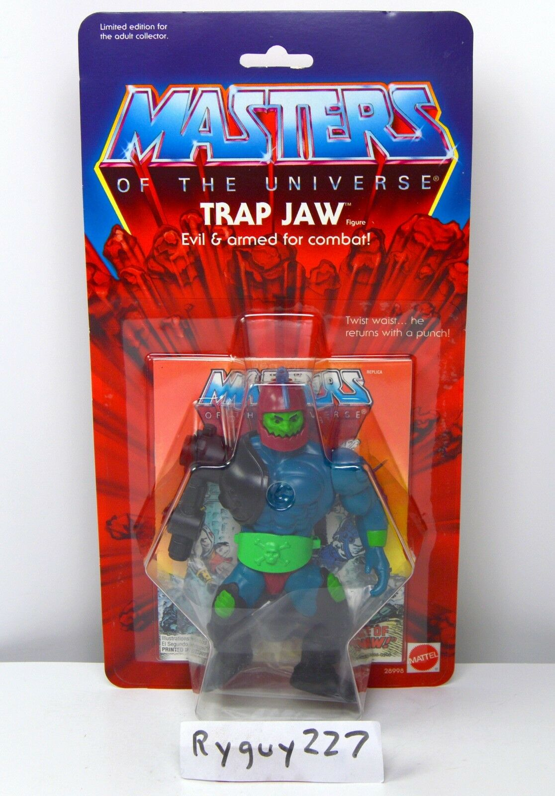MOTU, Commemorative Trap Jaw, MISB, sealed, MOC, Masters of the Universe, He-Man