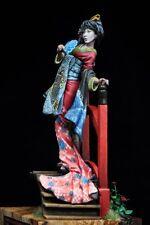 Alexandros Models 75mm Courtesan Koi Japanese Geisha White Metal Figure Kit O/40