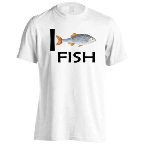 I love Fish Novelty Funny Men/'s T-Shirt//Tank Top gg72m