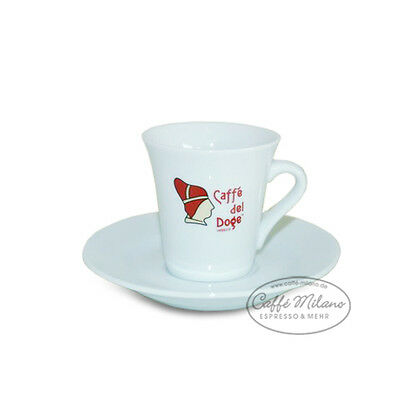 Caffe del Doge Espresso Tasse mit Unterteller - Caffe Milano