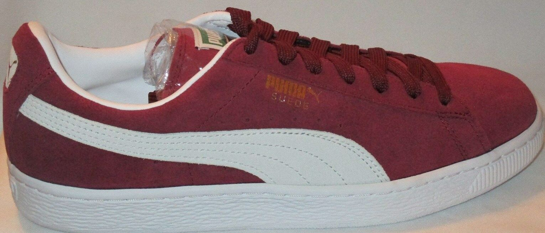 Hombre Puma Gamuza Clásico de  Atléticas Zapatos  de Clásico alto riesgoBlanco 37c5cf
