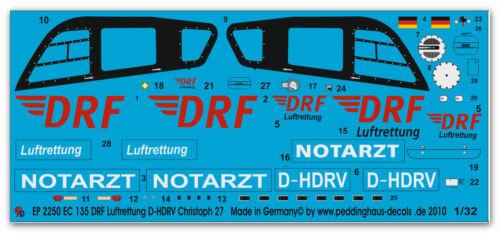 Peddinghaus 2250 1//32 EC 135 DRF Rettungshelicopter Christoph 27 D-HDRV