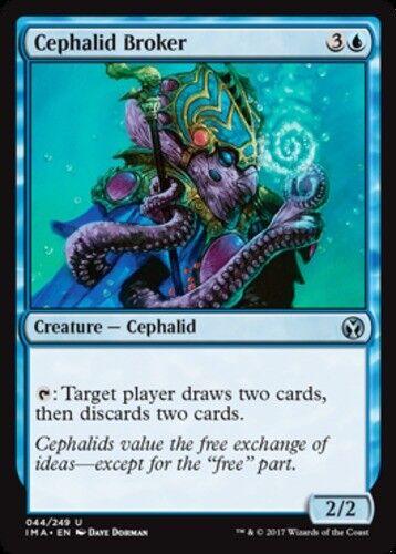 4x Cephalid Broker NM-Mint Iconic Masters Blue U mtg SPARROW MAGIC