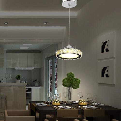 Modern Round Ceiling Chandelier LED Light Crystal Hanging Pandent Lamp Lighting