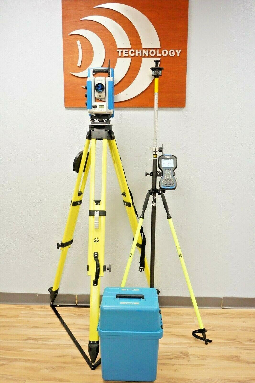 "Spectra Precision Focus 35 5"" Robotic Total Station Ranger 3 Layout Pro"