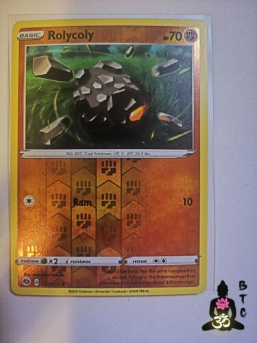 Champion/'s Path Pokémon TCG Rolycoly 031//073 Common Reverse Holo NM//MINT