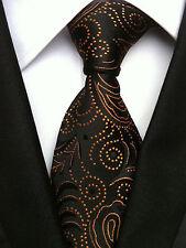 (NT112) 100% SILK Handmade Black Jacquard Men Necktie Office Business Party Tie