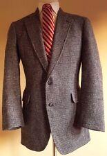 JOS a BANK Harris TWEED Blazer JACKET 42L 43L Multicolor WOOL Long TWO Button Sz