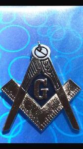 Master Mason Masonic Blue Lodge Chain Collar Silver finish Blue Backing