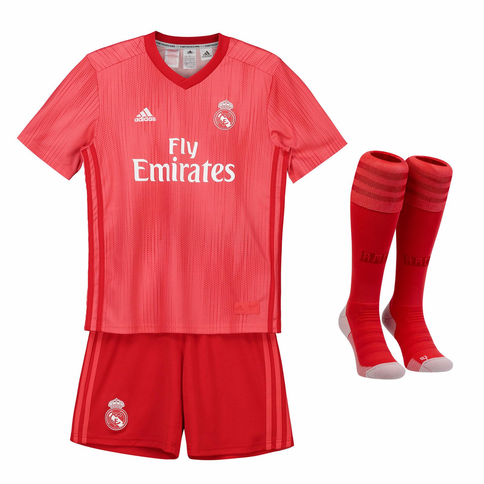 Offiziell Real Madrid Third Kinder Kinder Kinder Mini Kit Fußball Trikot Shorts 2018 19 adidas d286be