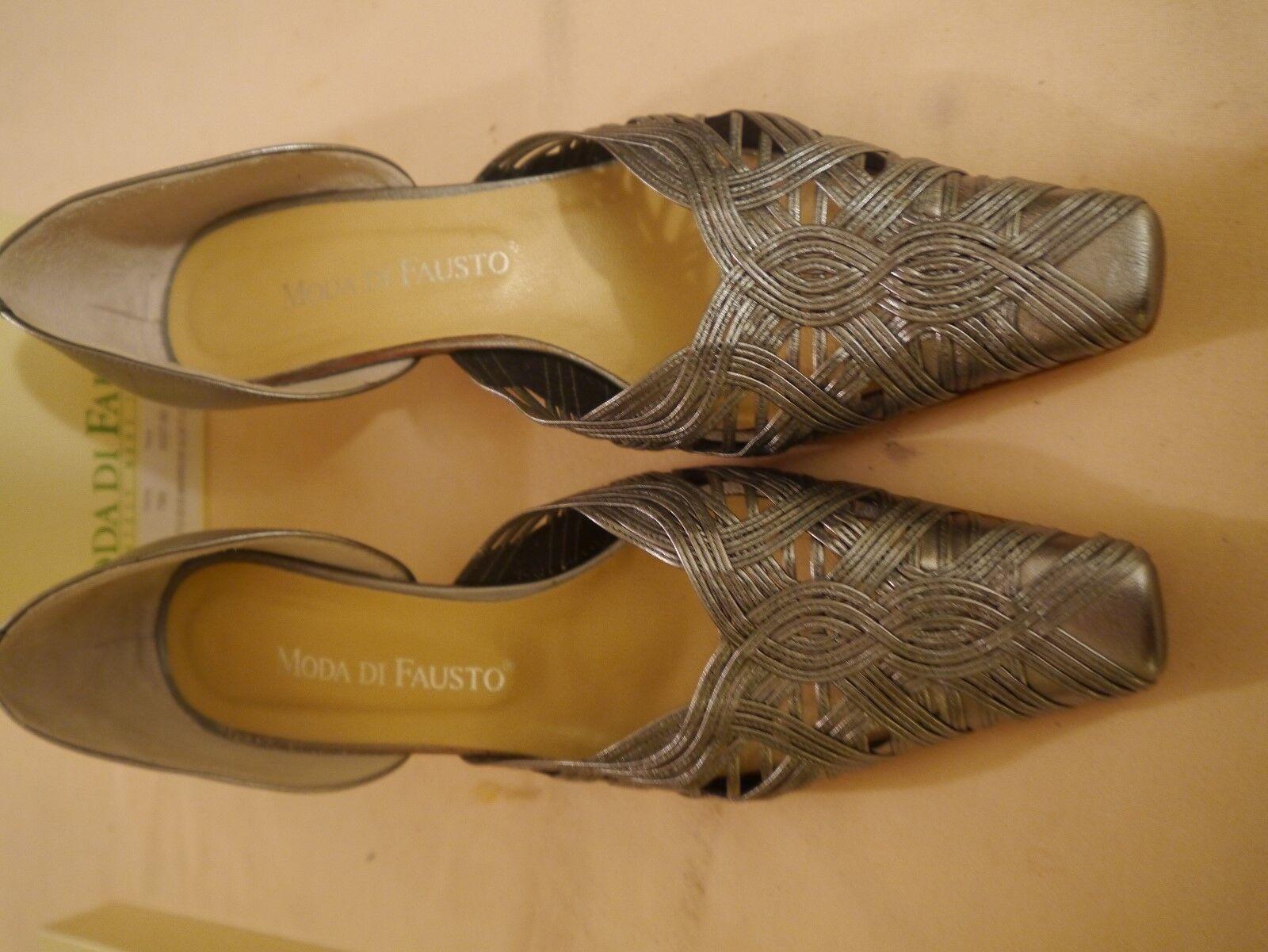 Moda di Fausto ladies chaussures caprettu 615 mirror soft Taille 38 1 2 used with box