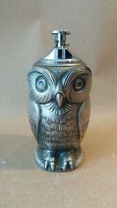 Vintage-cast-metal-owl-Bottle-Opener-table-lighter-STAMPED-MADE-IN-FRANCE