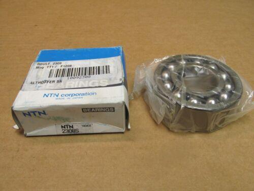 NIB NTN 2308S SELF ALIGNING BEARING 2308 S 40x90x33 mm