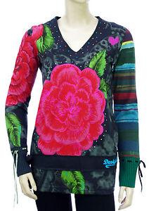 DESIGUAL-Tee-shirt-tunique-femme-TS-ELVI-58T24P2-gris-taille-S-coloris-2020-gris