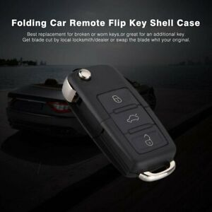 Folding-Design-Car-Remote-Flip-Key-Shell-Case-Fob-3-Buttons-For-A