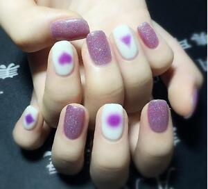 Translucent Faded Heart Square Water Transfers Nail Art Sticker