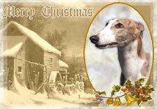 Greyhound Dog A6 Christmas Card Design XGREYHND-5 by paws2print