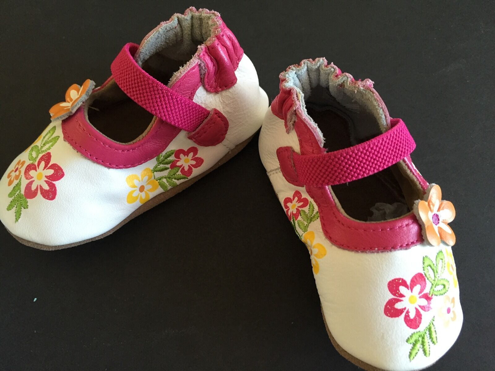 ROBEEZ Infant Baby Girls Leather Mary Jane Sandals Crib Shoes