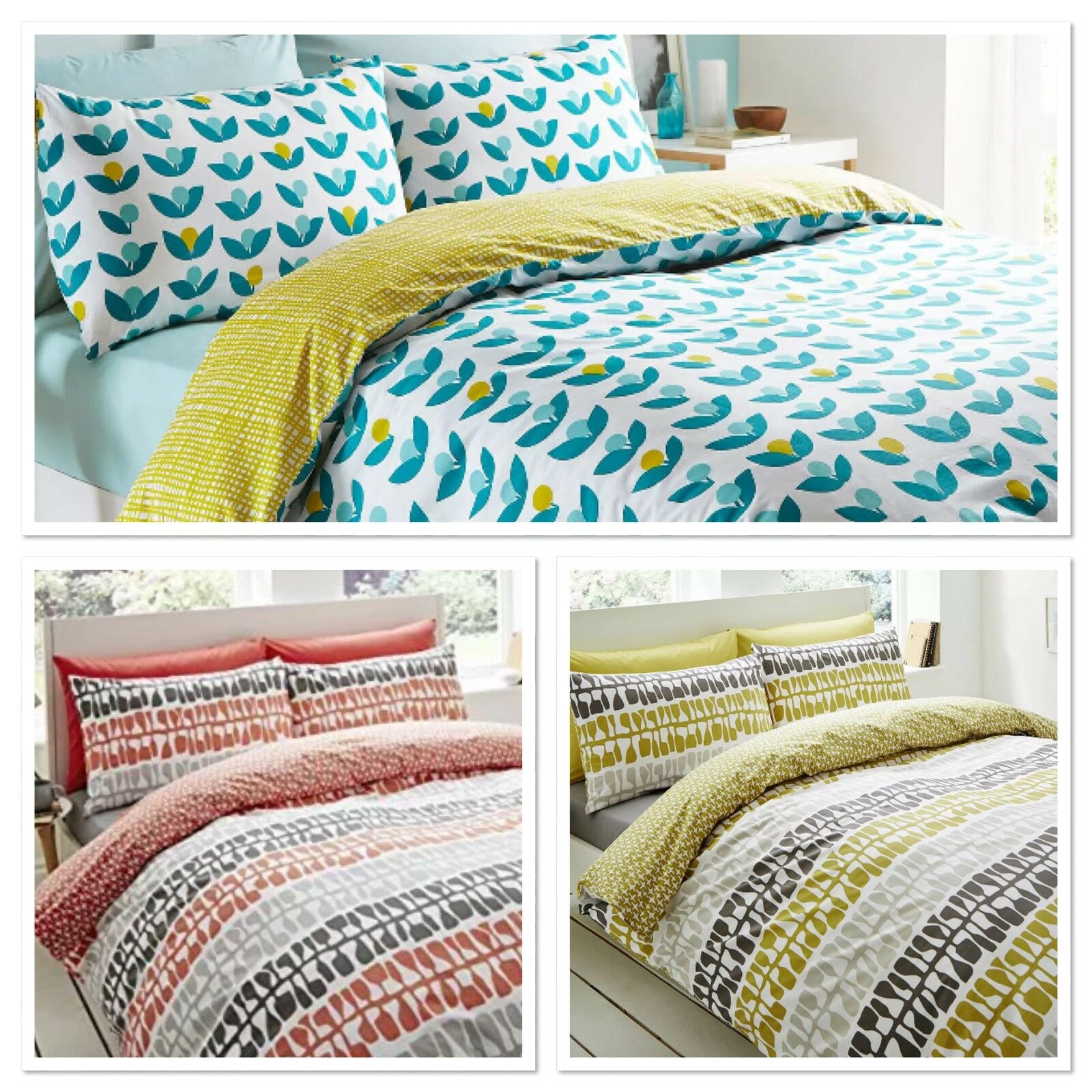 Reversible Lotta Jansdotter Designer Coral Follie Bettding Duvet Startseite Set