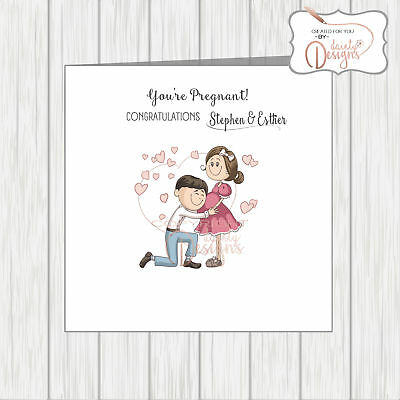 Congratulations On Your Pregnancy Stylish Chic Woman Baby Bump You/'re Pregnant!