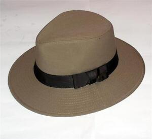 42b9c1072d13e Details about INDIANA JONES Khaki Brown COTTON TWILL 3