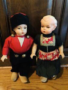ANTIQUE DUTCH BOY AND GIRL WALKING DOLLS AUTHENTIC ...