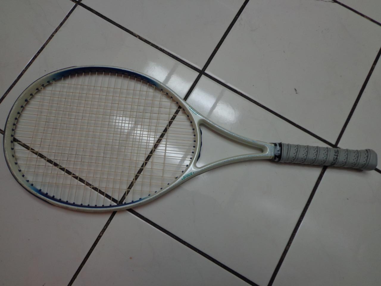 Raro Príncipe Ace Cara Cara Cara 110 cabeza pequeña Agarre de 4  tenis raqueta d02145