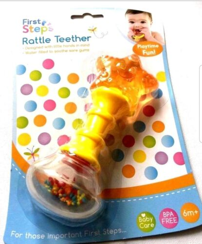NEW First Step Rattle  teether play time Fun 6 Months