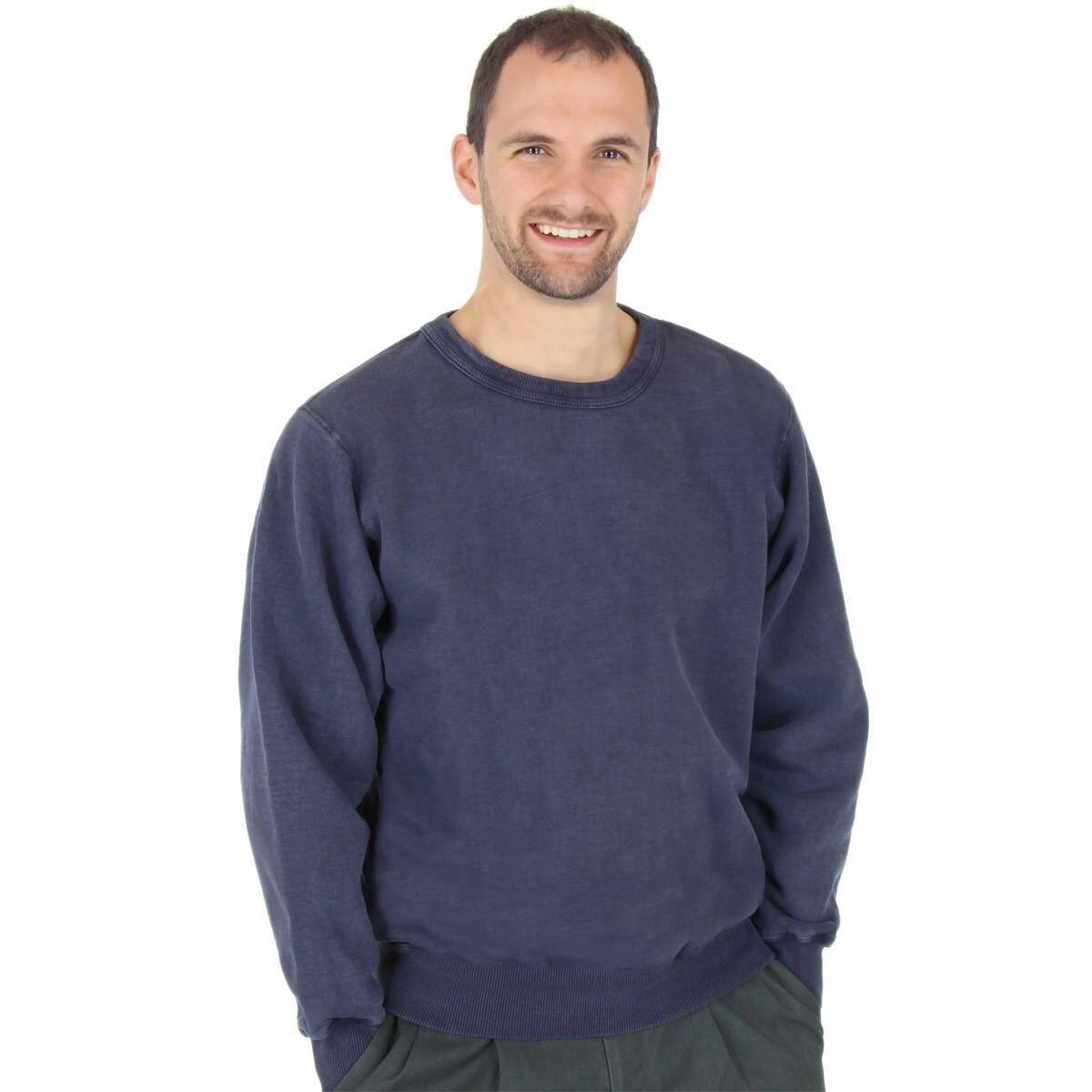 Herren 100% Heavy Cotton Crew Pullover Sweatshirt - CottonMill - Made in Canada