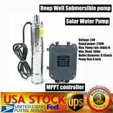 3 24v 270w Dc Deep Well Solar Water Pump Submersible Maxhead 100m 328ft Mppt