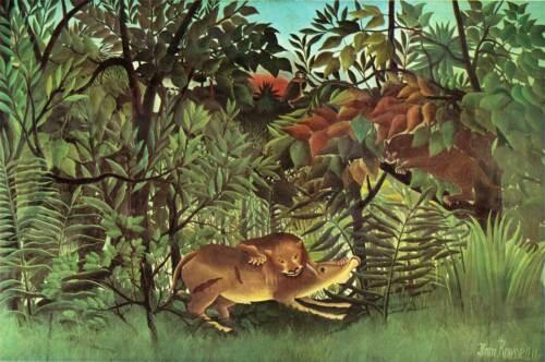 Rousseau cod 03 poster 35x50 papi arte moderna naif stampa