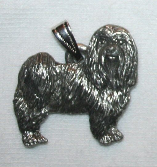 Maltese Puppy Cut Dog Harris Fine Pewter Pendant USA Made