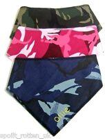 Personalised Camo Bandana Khaki, Pink or Blue Any Dog Name Embroidered FREE