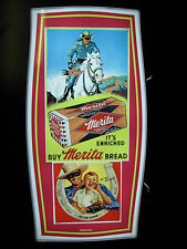 Vintage LED Lighted Sign: Merita Bread with The Lone Ranger