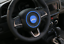 Blue ABS Car Steering Wheel Cover Trim Frame For Jeep Renegade 2015-2018 2pcs