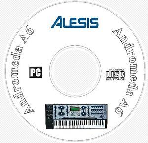 Alesis-Andromeda-A6-Sound-Patch-Library-Manual-MIDI-Software-amp-Editors-CD-A-6
