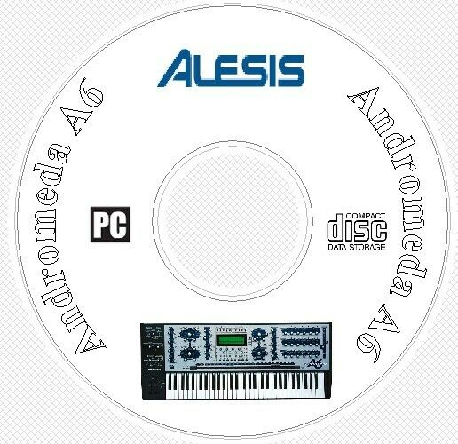 Alesis Andromeda A6 Sound Patch Library Manual MIDI Software & Editors CD A 6